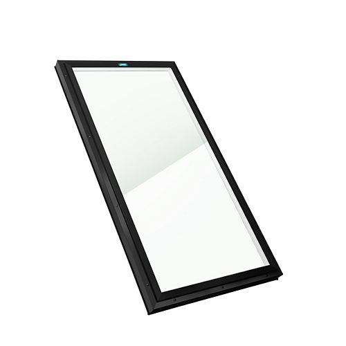 Columbia Skylights 2ft x 3ft Fixed Curb Mount LoE3 Double Glazed Neat Glass Skylight with Black Frame