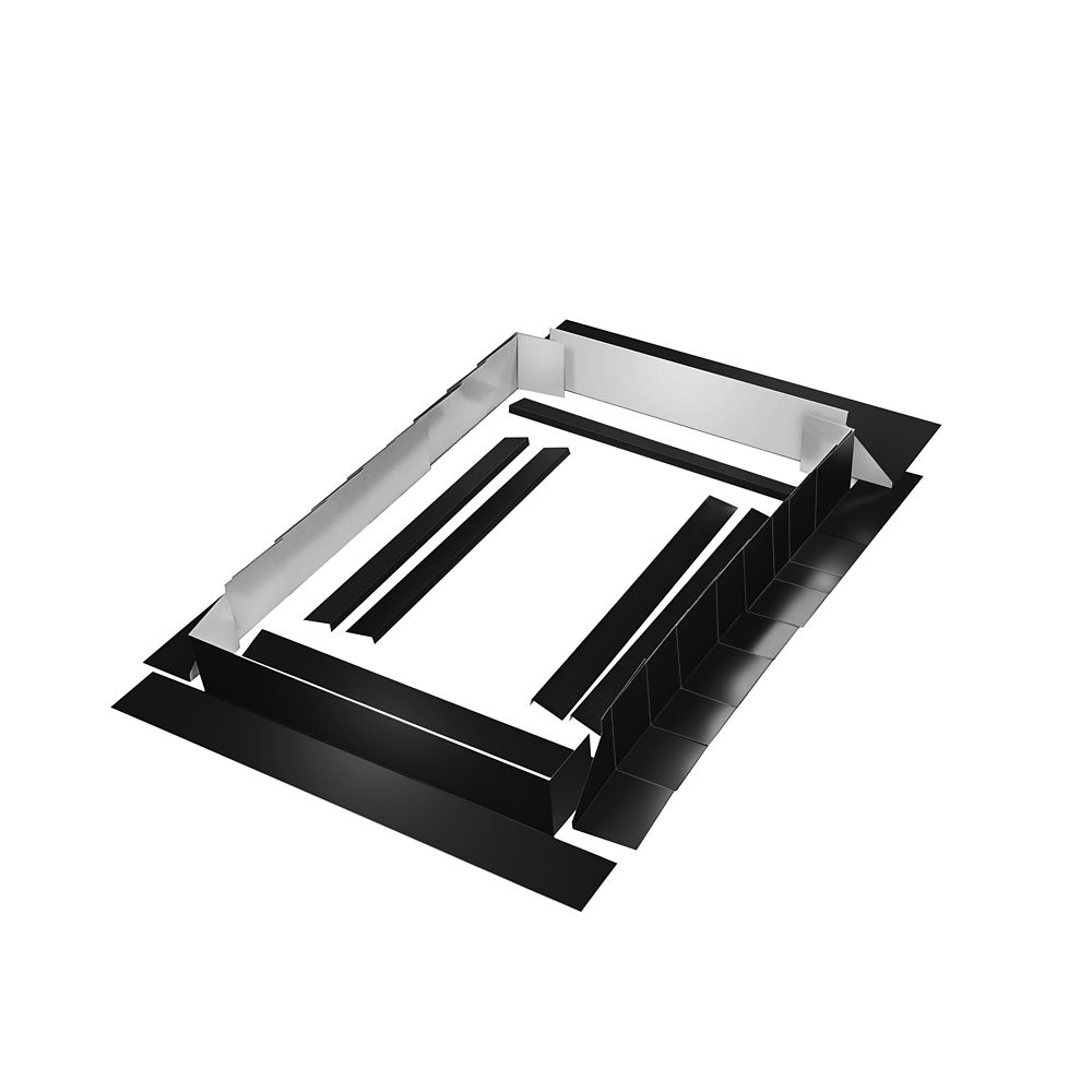 Curb Mount Flashing Kit - 52 Inch Black