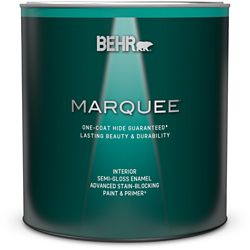 Behr Marquee Marquee 939 mL Ultra Pure White Semi Gloss Enamel Interior Paint with Primer