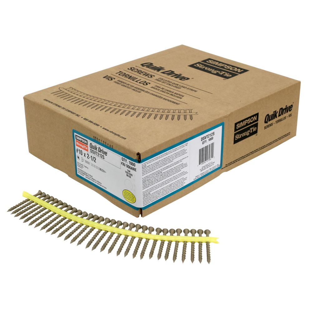 Quik Drive #10 x 2-1/2 Inch Quik Guard Tan DSV Collated Decking Screw (1,000/Box)