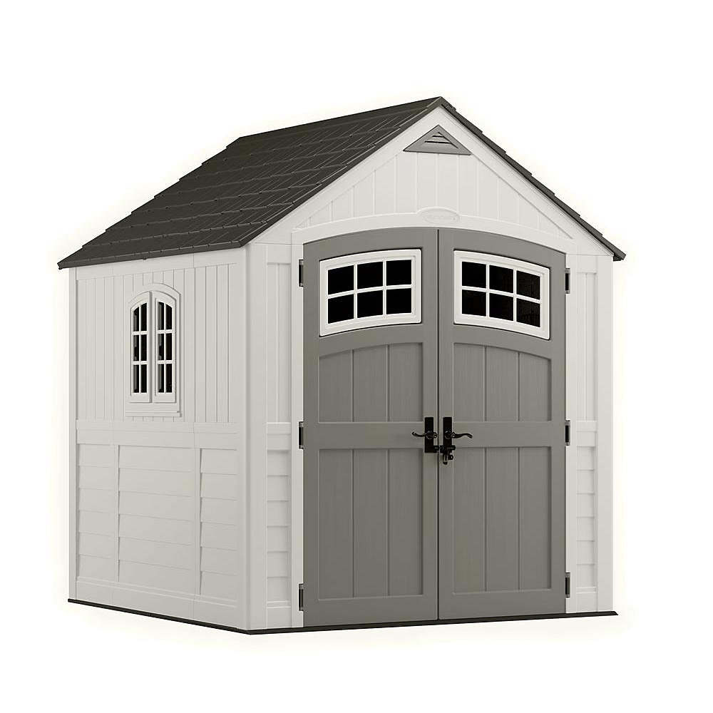 Cascade 7 ft. 3-inch x 7 ft. 4.5-inch Resin Storage Shed