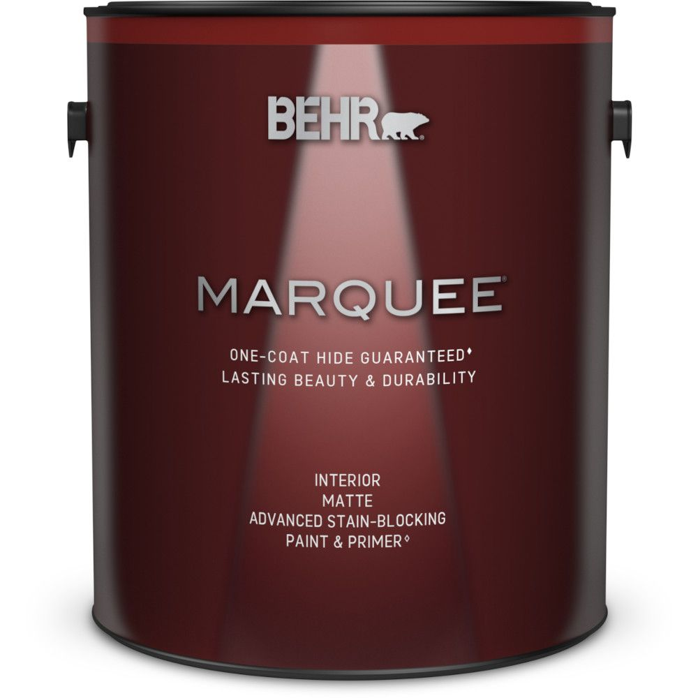 behr marquee peinture et appr t en un marqueemd dint rieur avec fini mat blanc ultra pur 3 7 l. Black Bedroom Furniture Sets. Home Design Ideas
