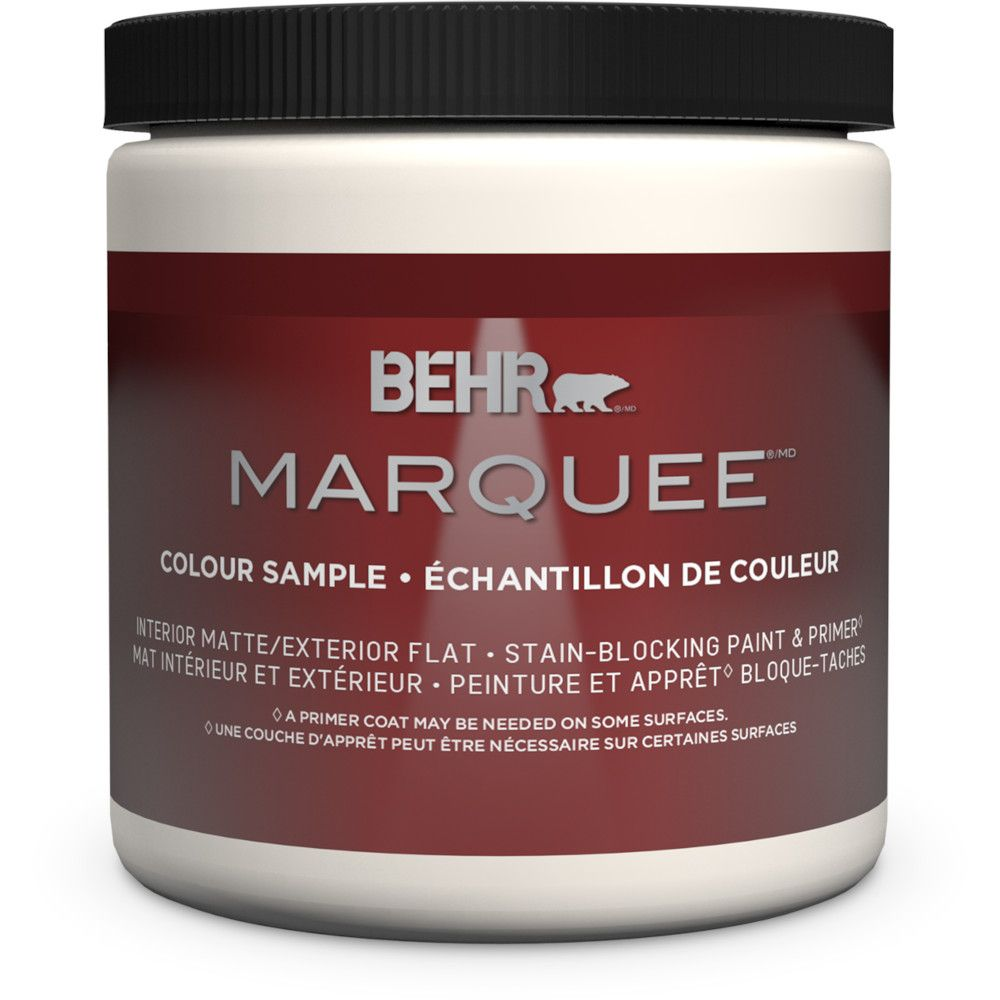 Behr Marquee Marquee 8 oz Medium Base Matte Interior Paint Sample with Primer