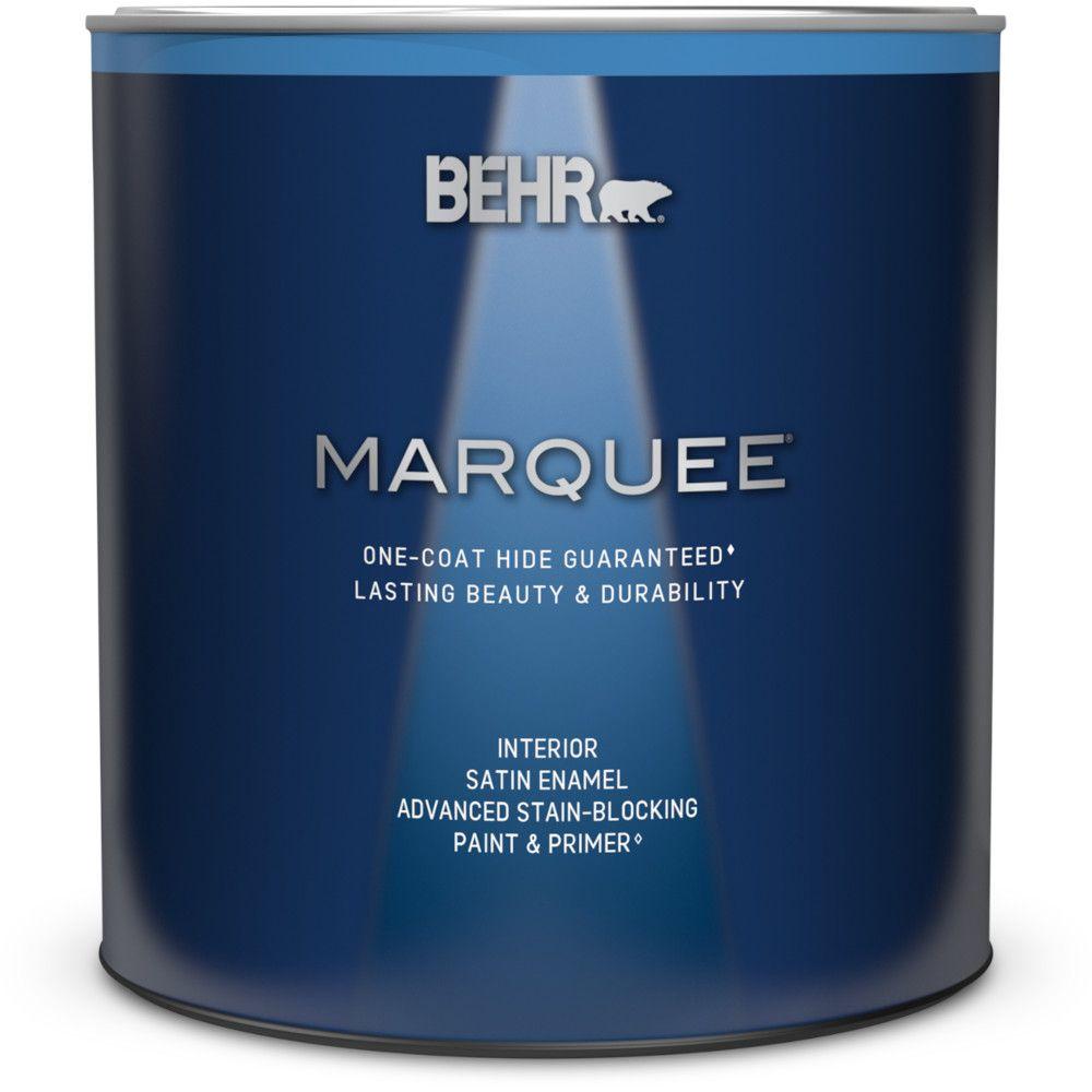 Peinture et apprêt en un MarqueeMD dintérieur avec fini émail satiné et base moyenne (939ml)
