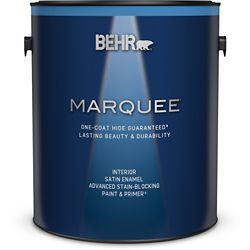 Behr Marquee Marquee 3.7 L Medium Base Satin Enamel Interior Paint with Primer