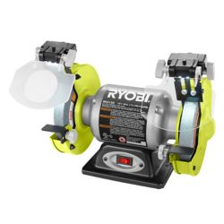 RYOBI 2.1-Amp 6-inch Grinder with LED Lights