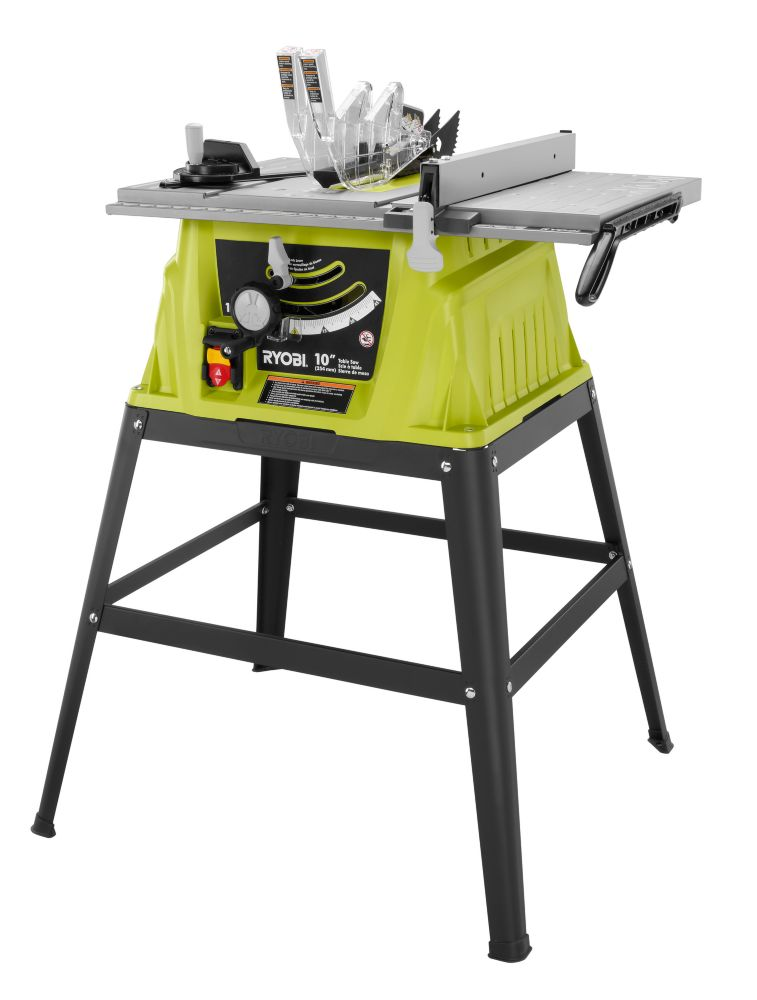 Ryobi 10 Inch 15 Amp Table Saw With Stand The Home Depot Canada