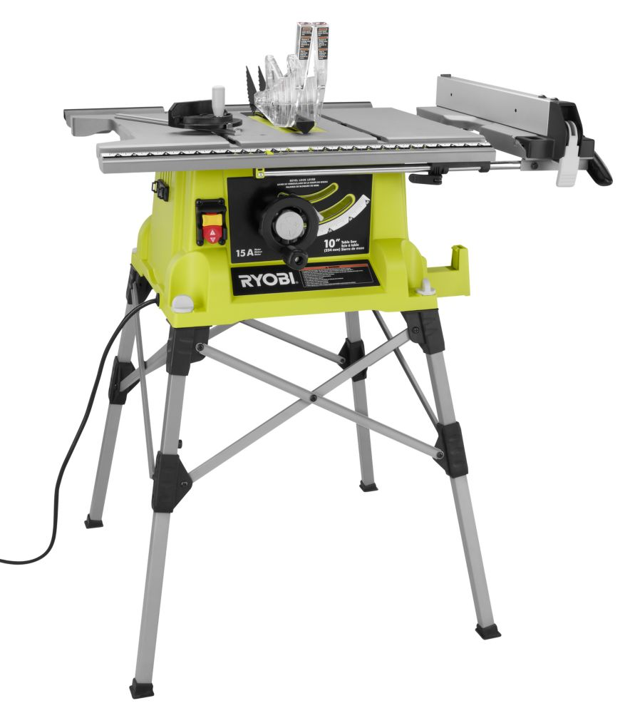 10-inch Portable Table Saw with QuickSTAND