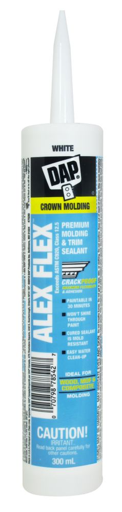 DAP DAP ALEX FLEX Premium Molding & Trim Sealant White 300ml