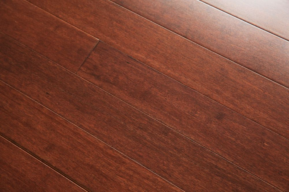 GUOYA Sepia Solid Strand Woven Bamboo Engineered Hardwood Flooring The Home