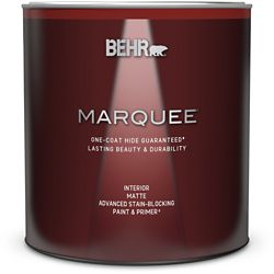 Behr Marquee Marquee 939 mL Ultra Pure White Matte Interior Paint with Primer