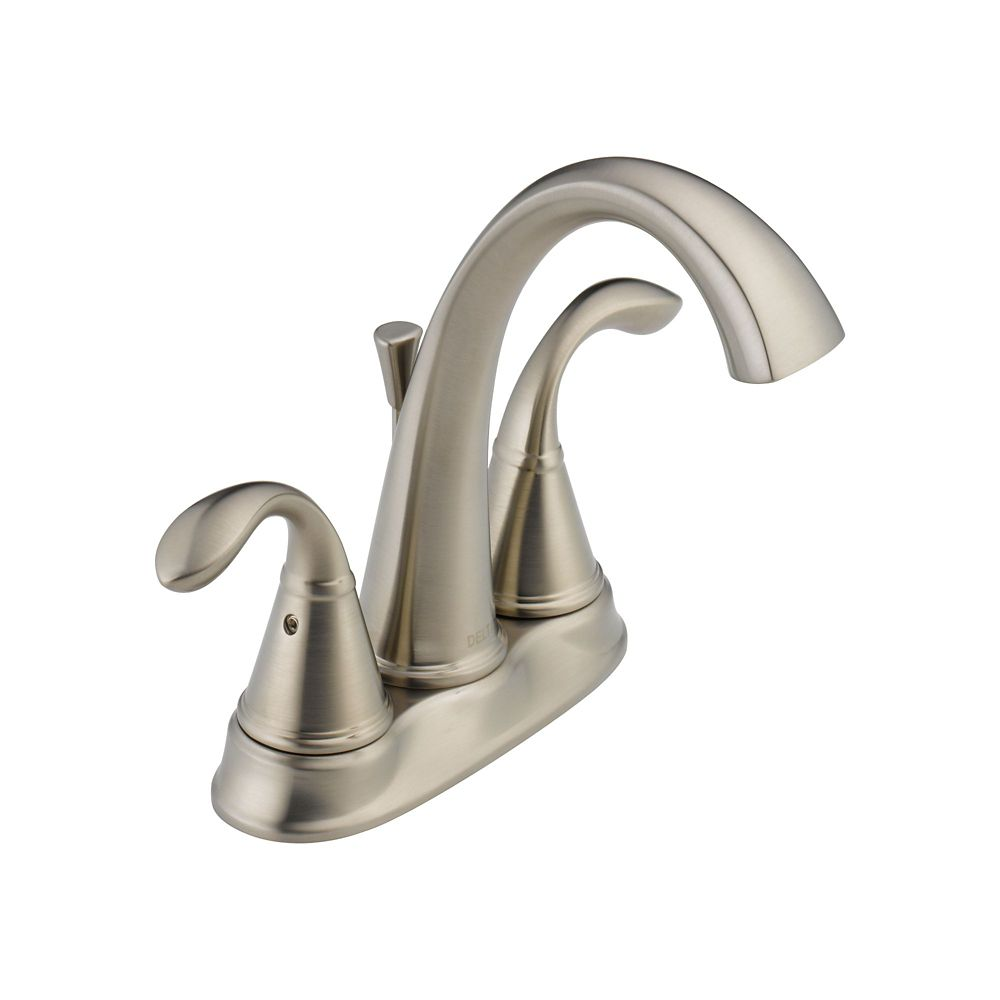 Delta Zella 2 Handle Bathroom Faucet In Stainless Finish The Home Depot Canada
