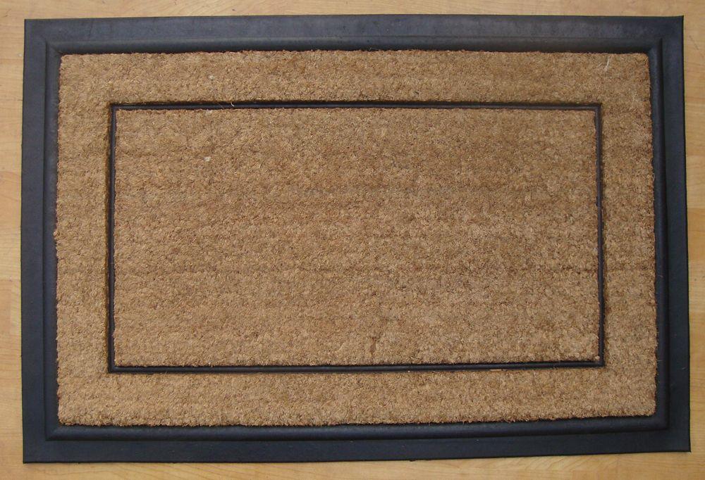 Paillasson en fibres de coco a bordure simple