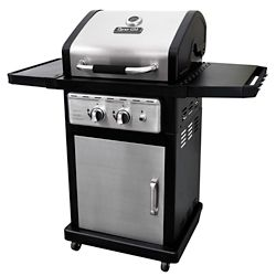 Dyna-Glo Smart Space Living 2-Burner Propane Gas BBQ in Stainless Steel and Black