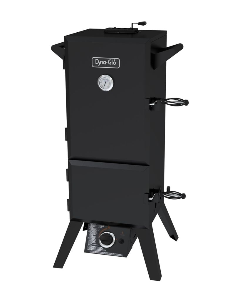 Dyna-Glo 36-inch Vertical Double Door Propane Gas Smoker