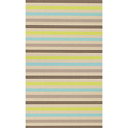 Multy Home Monaco Multi-Colour 2 ft. x 3 ft. 4-inch Indoor/Outdoor Contemporary Rectangular Accent Rug