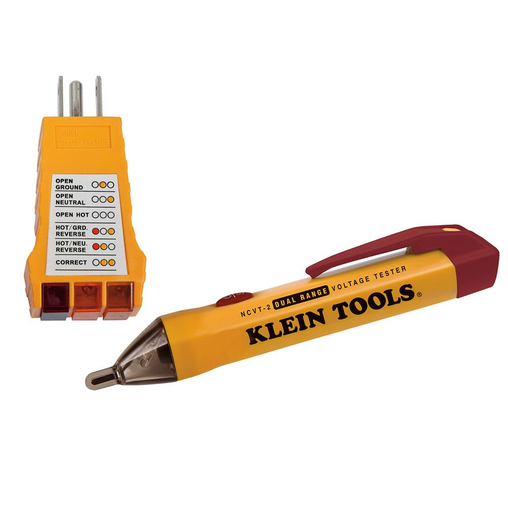 Klein Tools Dual Range Non Contact Voltage Tester With Polarity Cube Sperry Instruments Circuit Breaker Finder Accessory Kit Hd Supply The Home Depot Canada
