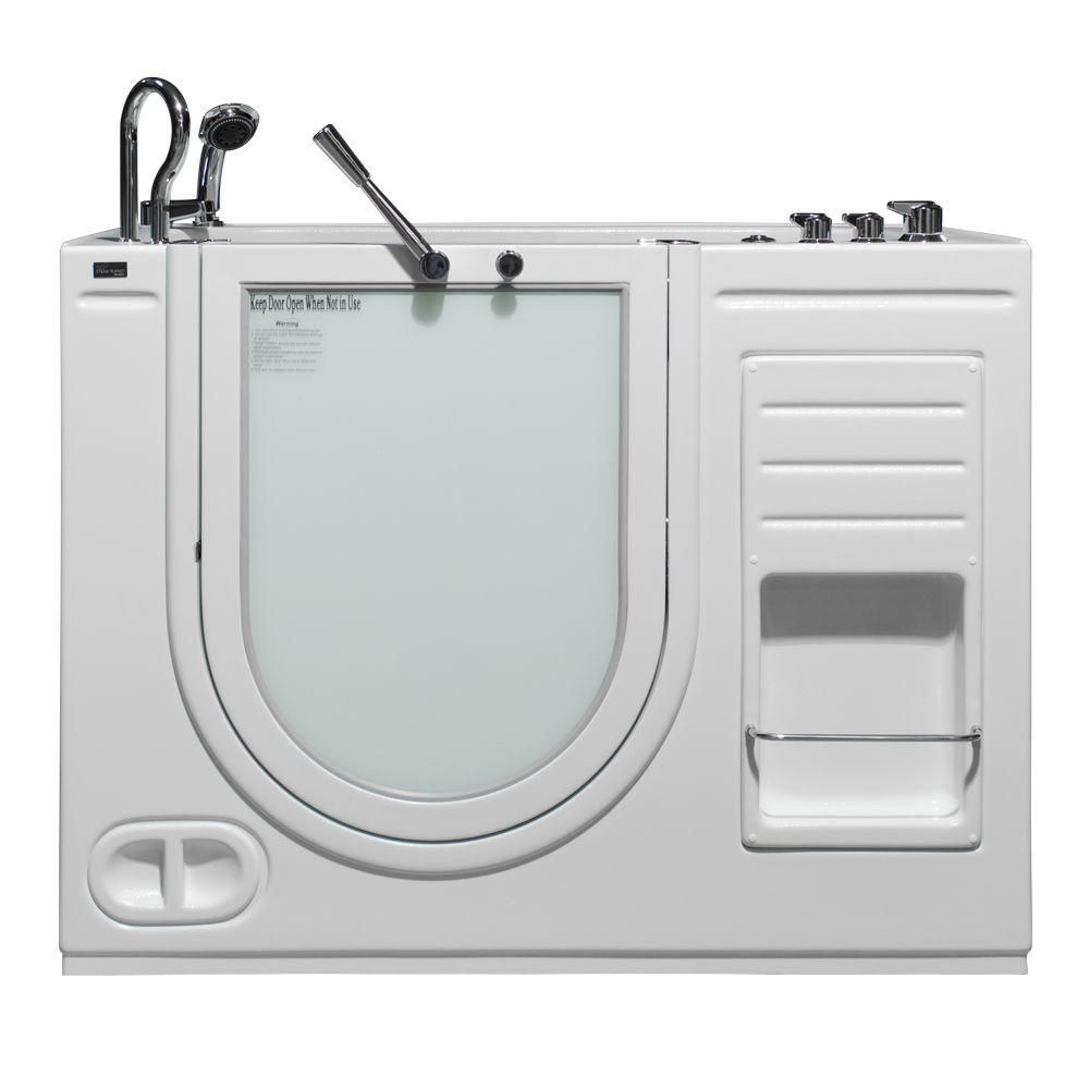 Lavish Heated Whirlpool Walk In Tub With Thermostatic Controls And Outward Op