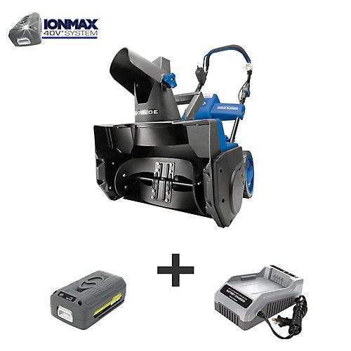 Souffleuse à neige électrique sans fil 18 po iON avec batterie rechargeable EcoSharp