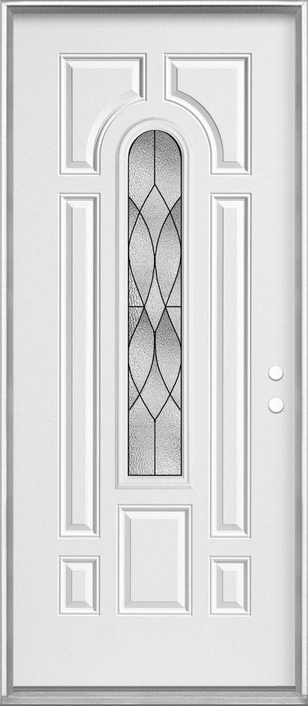 Masonite 36-inch x 4 9/16-inch Centre Arch Patina Left Hand Door - ENERGY STAR®