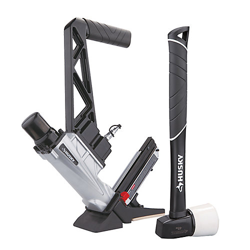 Pneumatic 3-in-1 15.5 and 16 Gauge 2-inch Flooring Nailer and Stapler with Quick Jam Release