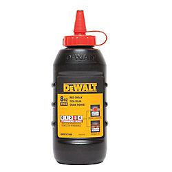 DEWALT 8 oz. Chalk in Red