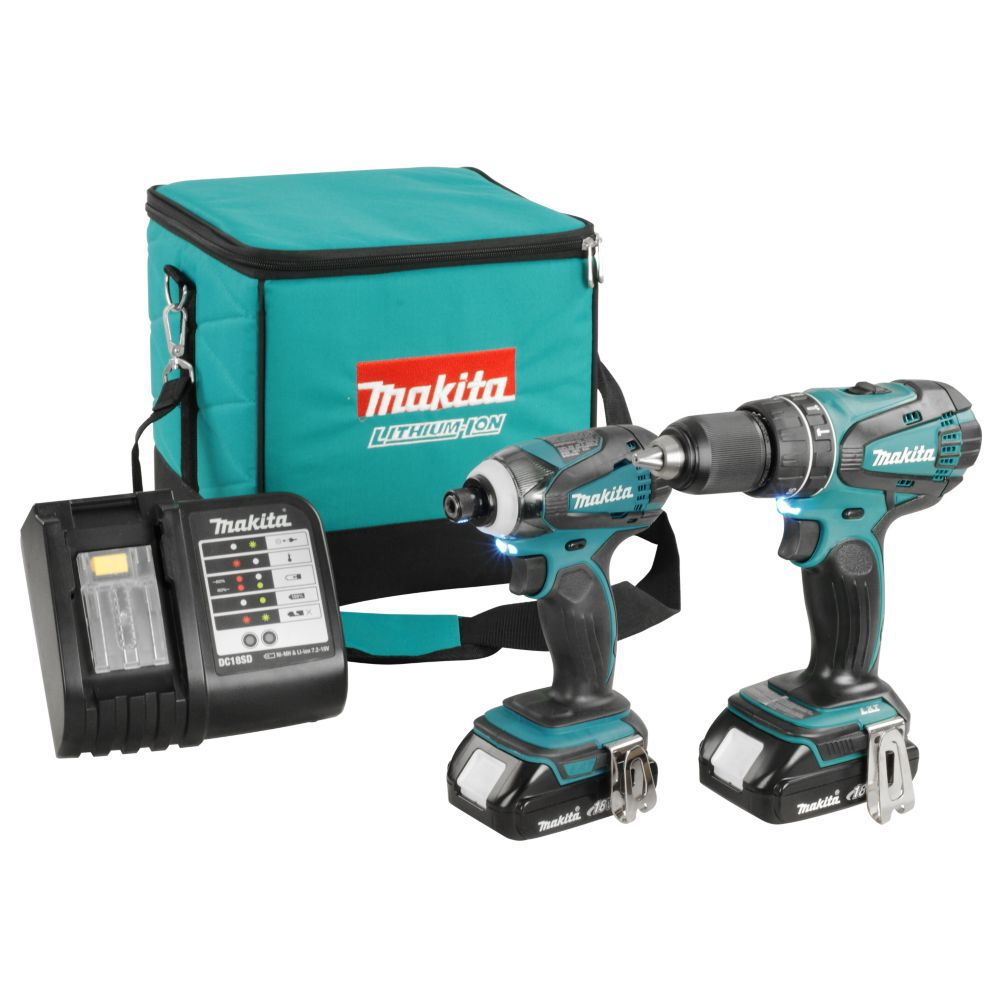 Makita 18v two piece cordless combo kit the home depot for 7 home depot