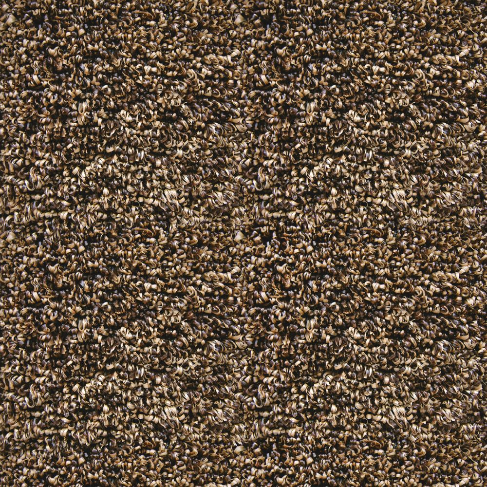 Brown 3 ft. x 3 ft. Indoor/Outdoor Contemporary Square Area Rug