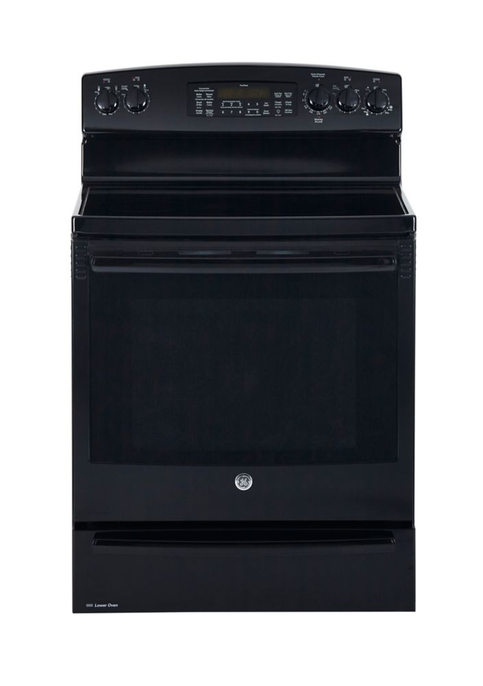 7.2 cu. ft. Free-Standing Electric Self-Cleaning Convection Range in Black
