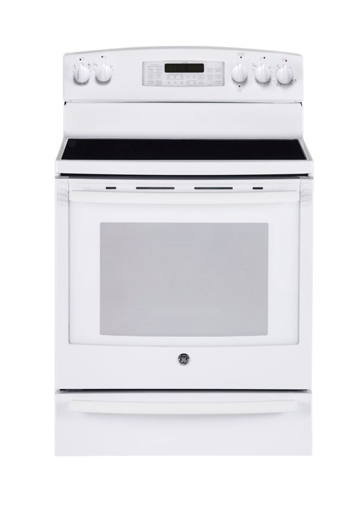 Home Depot Foyer Electrique Blanc : Ge cuisinière blanc à convection électrique autonettoyante