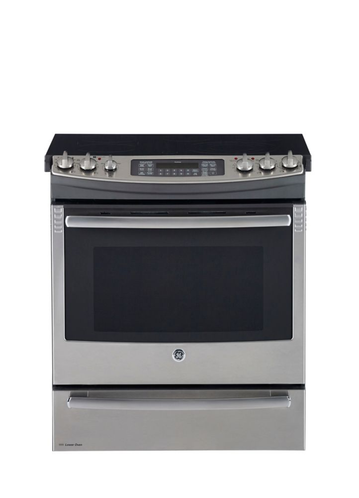 6.6 cu. ft. Slide-in Electric Self-Cleaning Convection Range in Stainless Steel