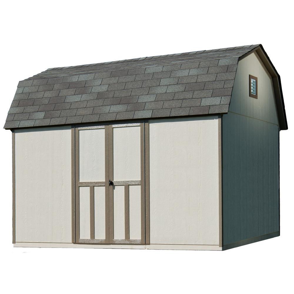Briarwood 12 ft. x 8 ft. Wood Frame & Primed Siding Shed Kit with Floor