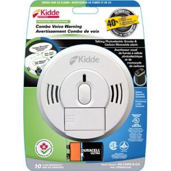 Kidde Battery Operated Combination Smoke and CO Alarm with Front Load Battery and Voice Warning