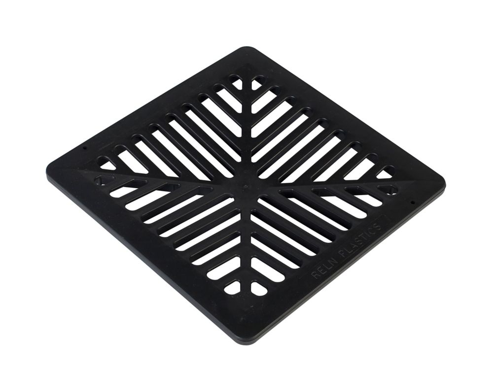 12 X 12 Black Flat Grate