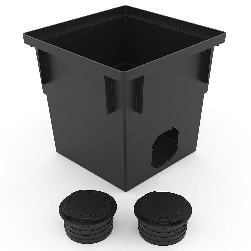 12 inch x 12 inch Catch Basin with Pipe Connector
