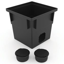 RELN 12 inch x 12 inch Catch Basin with Pipe Connector