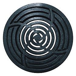 RELN Grille ronde noir de 8 po