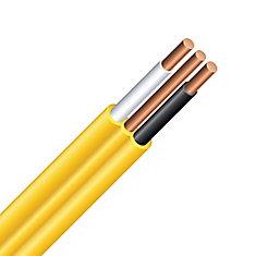 Câble électrique – fils cuivre calibre AWG 12/2 - Romex SIMpull NMD90 12/2 jaune - 150M