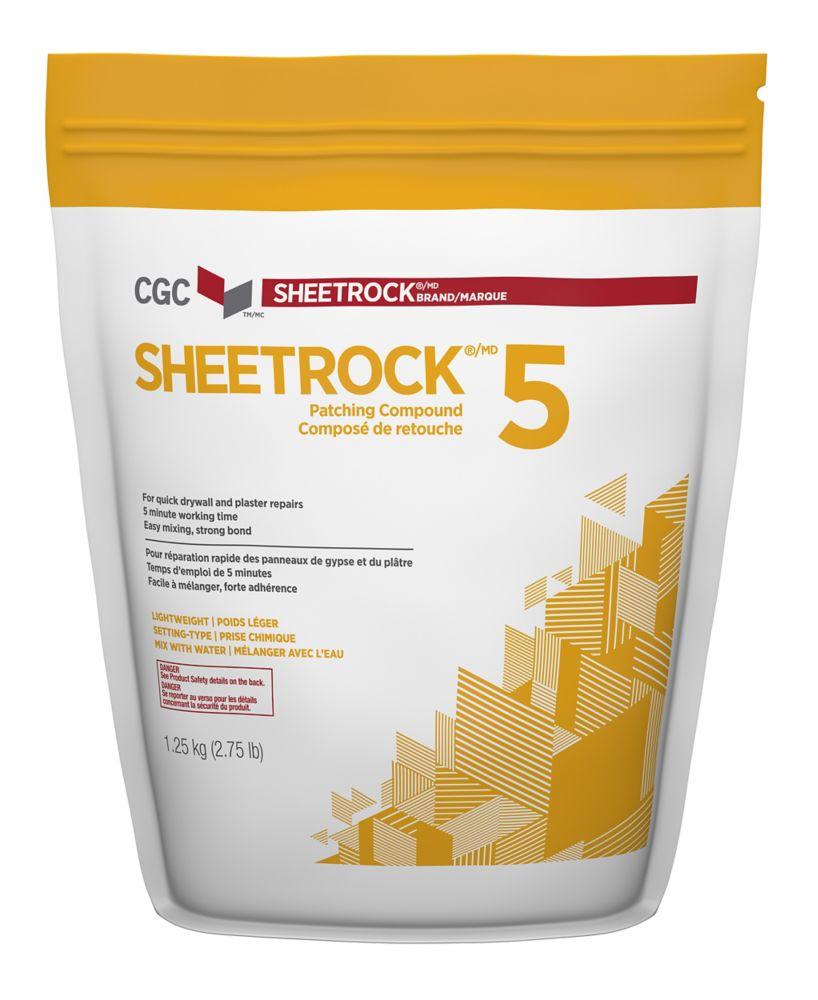 Composé à joint à prise chimique Sheetrock 5, sac de 1,25 kg
