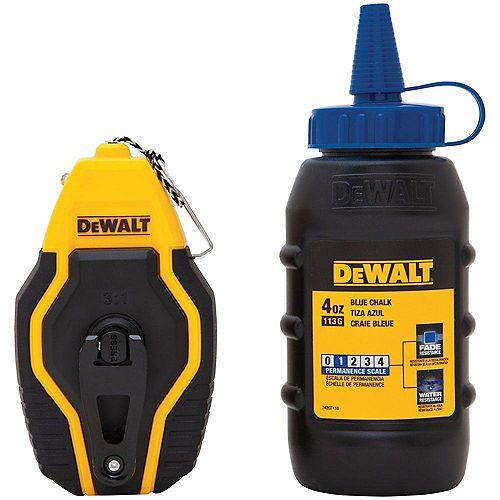 DEWALT Compact Chalk Reel Kit with Blue Chalk
