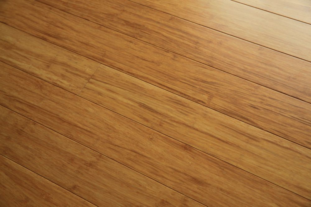 Natural Solid Strand Woven Bamboo Engineered Hardwood Flooring