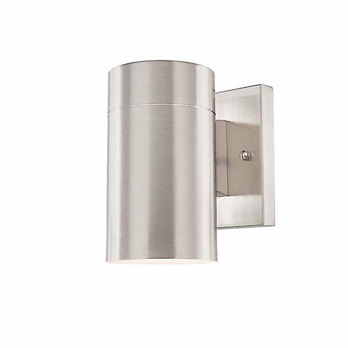 Morrilton 1-Light Brushed Nickel Outdoor Wall Lantern