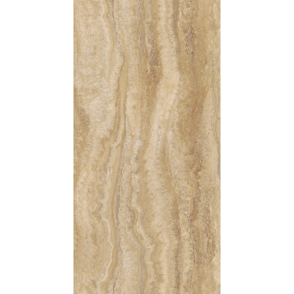 12-inch x 23.82-inch Vinyl Tile Flooring in Travertine Ivory (19.8 sq. ft./case)
