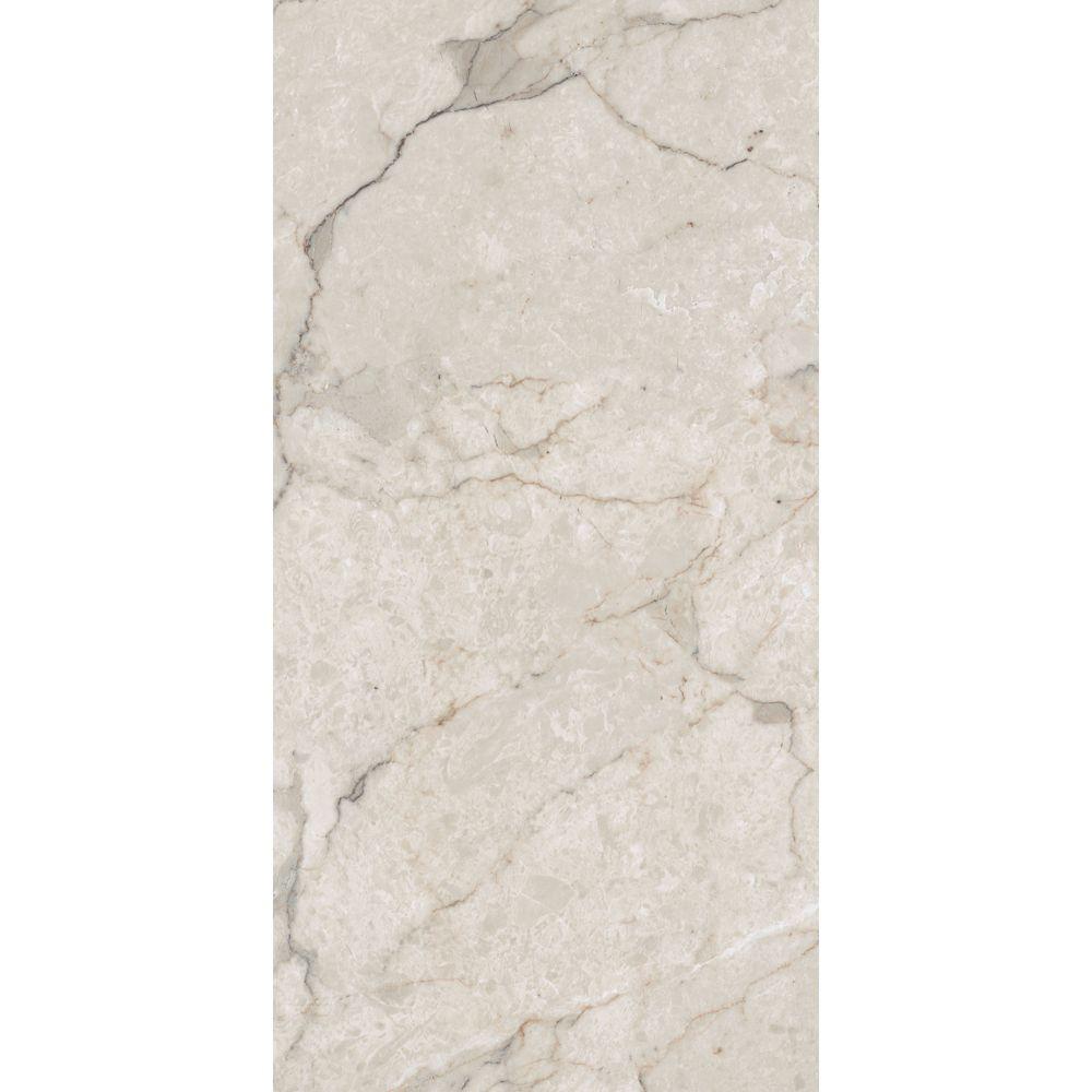 12-inch x 23.82-inch Vinyl Tile Flooring in Carrara White (19.8 sq. ft./case)