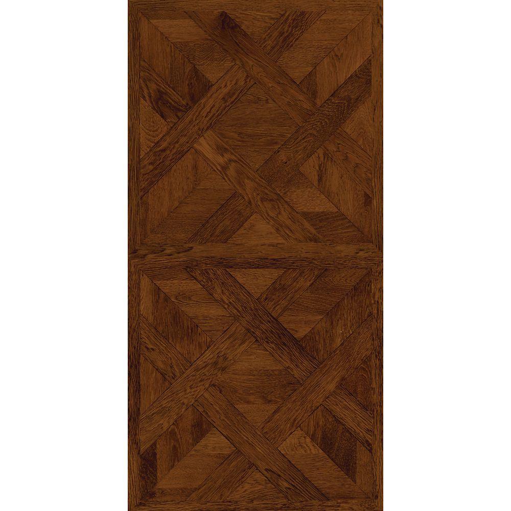 16 in. x 32 in. Chateau Parquet Dark Vinyl Tile Flooring (21.3 sq. ft. case)