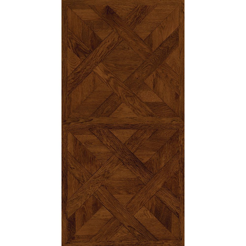16-inch x 32-inch Vinyl Tile Flooring in Dark Chateau Parquet (21.3 sq. ft./case)
