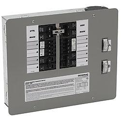 Generac Commutateur/converteur manuel intérieur, 50A, 12500W pour 12 à 16 circuits