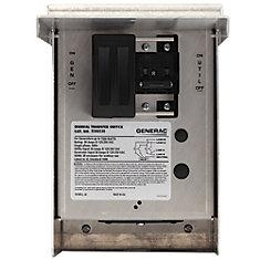 30 Amp 125/250-Volt 7,500-Watt 1-Circuit Manual Transfer Switch