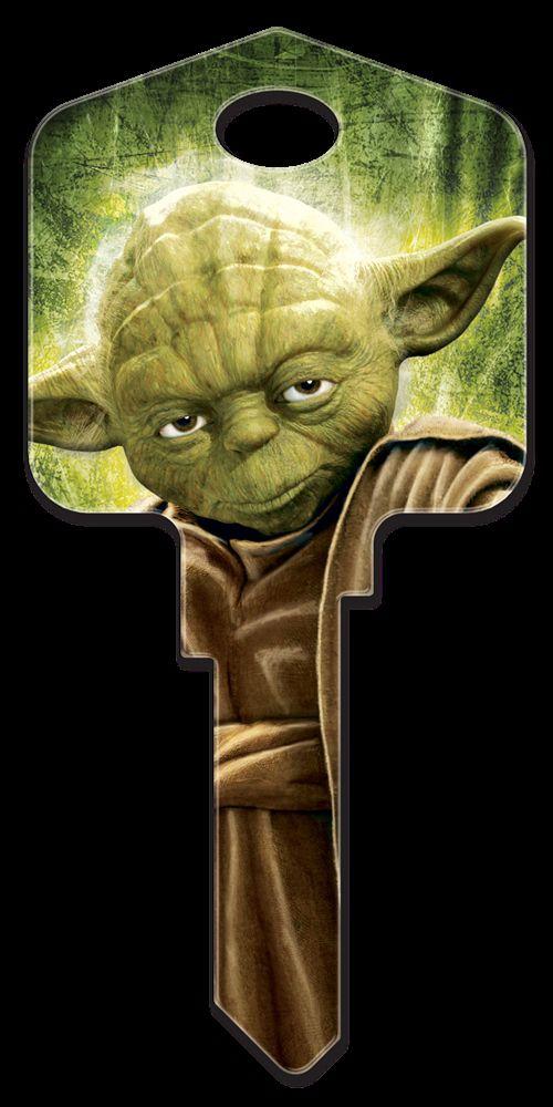 Clé vierge Star Wars avec imprimé Yoda