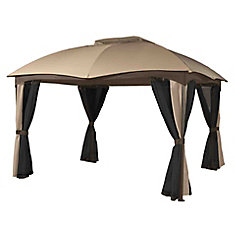Phuket 10 ft. x 12 ft. Sun Shelter in Beige and Brown